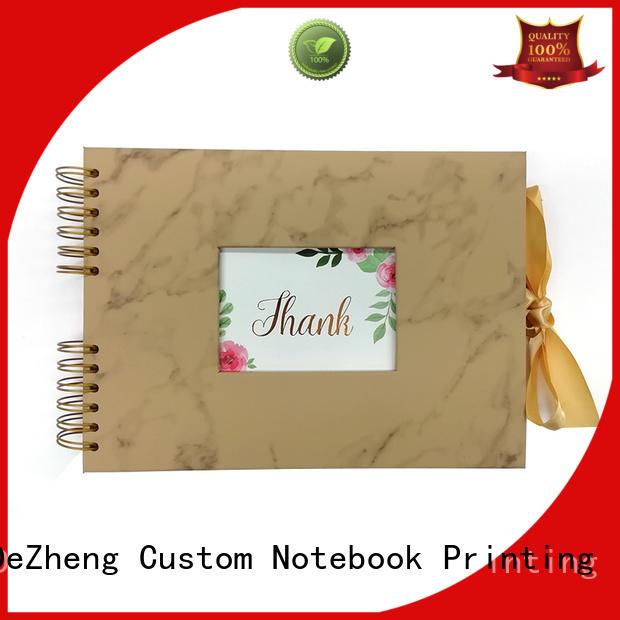 Dezheng print photo album leather supplier For photo saving