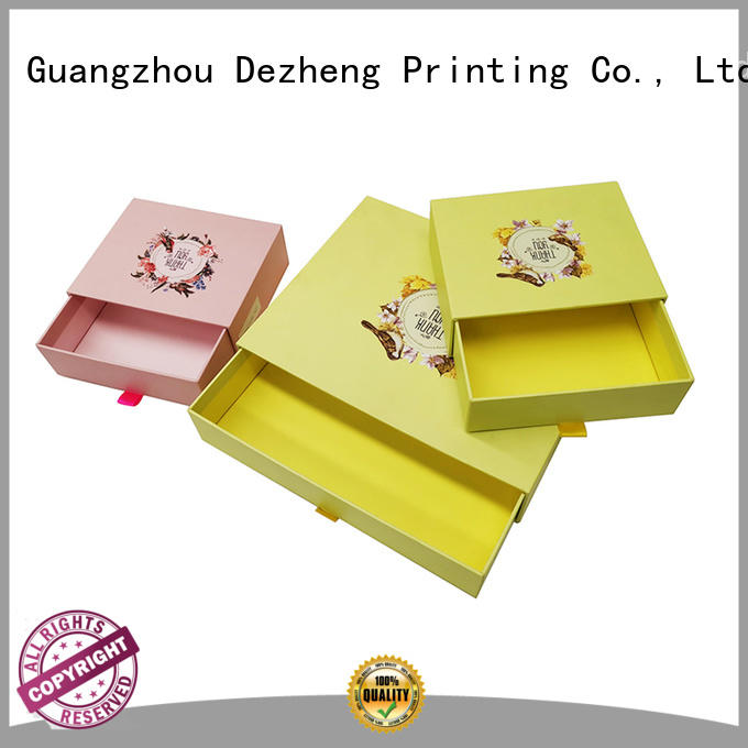 Dezheng 2019 new design custom cardboard boxes free sample for festival