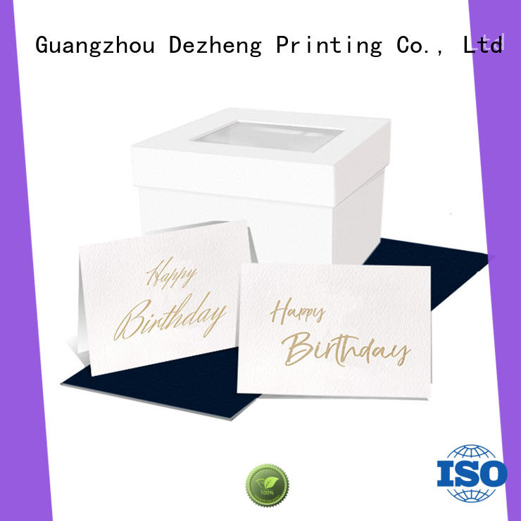 Dezheng Latest birthday greeting card customization For gift card