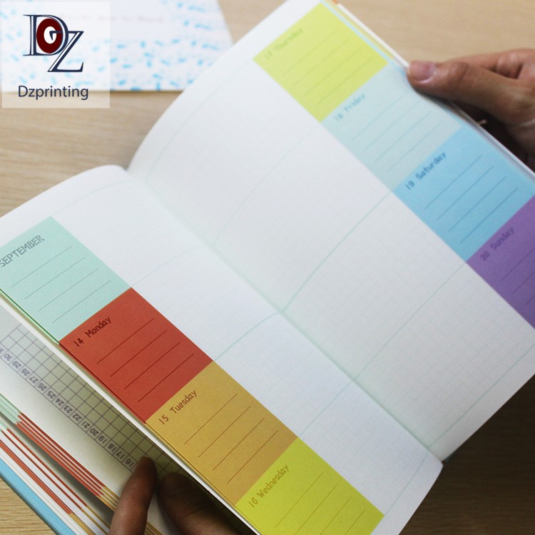 news-Dezheng-2021 Planner Hardcover Journal With Colorful Pages-img