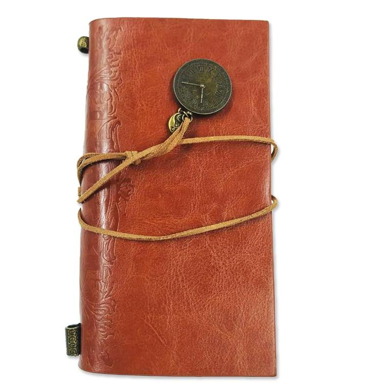 PU Leather Journal Vintage Style Leather Travelers Notebook With Credit Card Holder