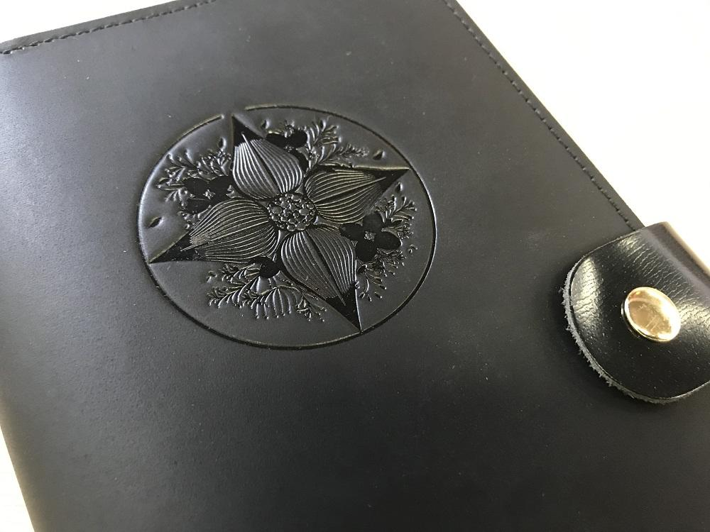 DIY Blank Black Real Leather Travel Journal With 3 Books