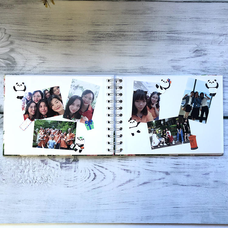 Children Mini Hardcover Scrapbook Photo Album With 20 DIY Self Sticky Pages