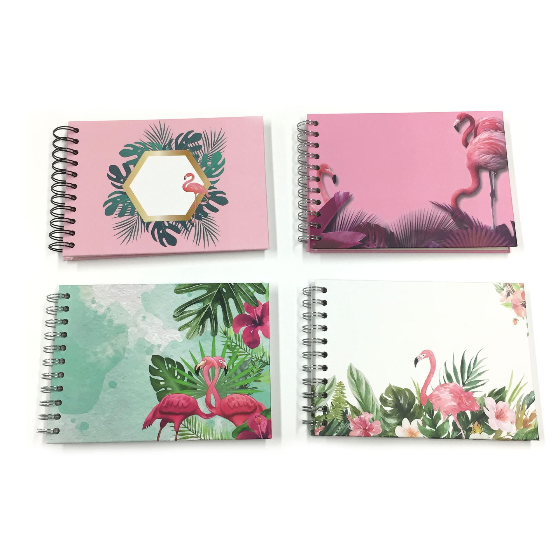 Self Adhesive Pages Photo Album Flamingo Print  Scrapbook With 20 Pages