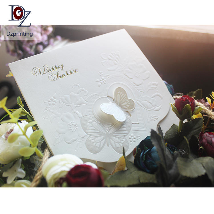 Custom Pattern Elegant Special Paper Wedding Gift Cards Envelope With Butterfly Buckle Closure