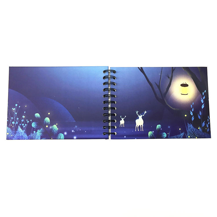 Bulk Purchase Spiral Bound 5x7 Self Stick Photo Album With 20 Pages for lovers kids as gift