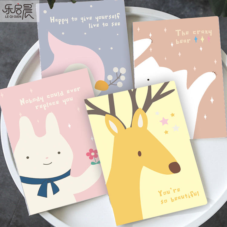product-Guangzhou factory eco friendly colorful printing a6 small saddle stitch notebooks with logo--1
