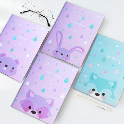 Guangzhou factory eco friendly colorful printing a6 small saddle stitch notebooks with logo