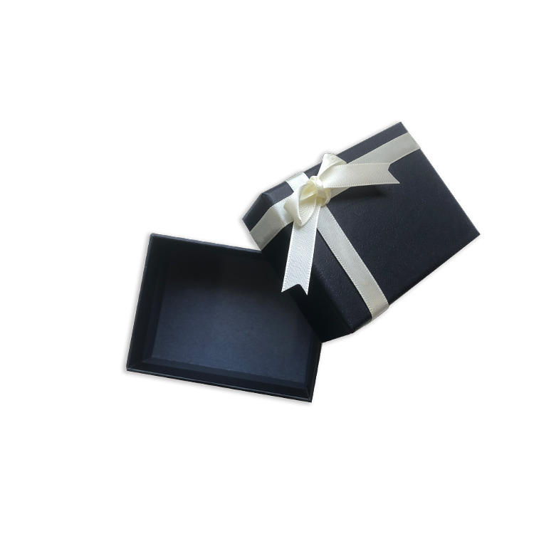 Small cardboard jewelry box wholesale custom black packaging paper jewellery box