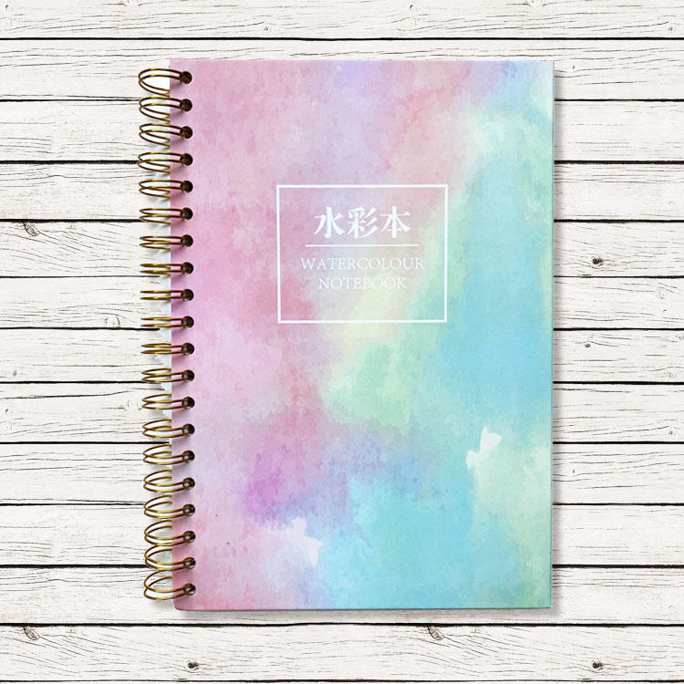 product-Dezheng-Spiral bound watercolor journal hardcover spiral bound notebook spiral notebook 5x7 -1