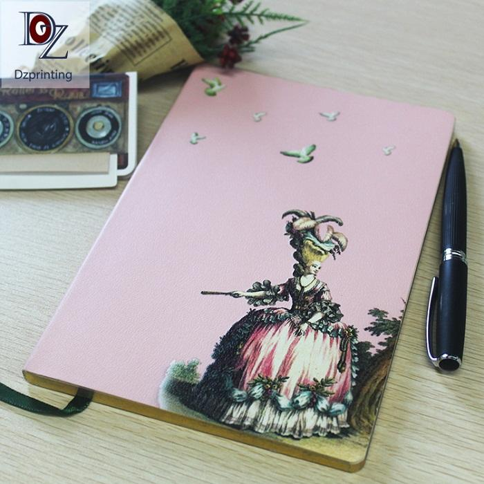 High Quality Business A5 Notebook PU Leather Printer Book Custom Notebook