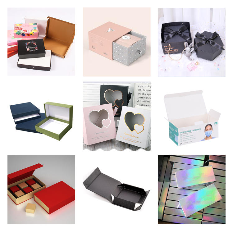 Customized Cardboard Corrugated Pink Mailer Clothing Paper Box Packaging Shipping Kraft Black Carton Paper Box with Logo