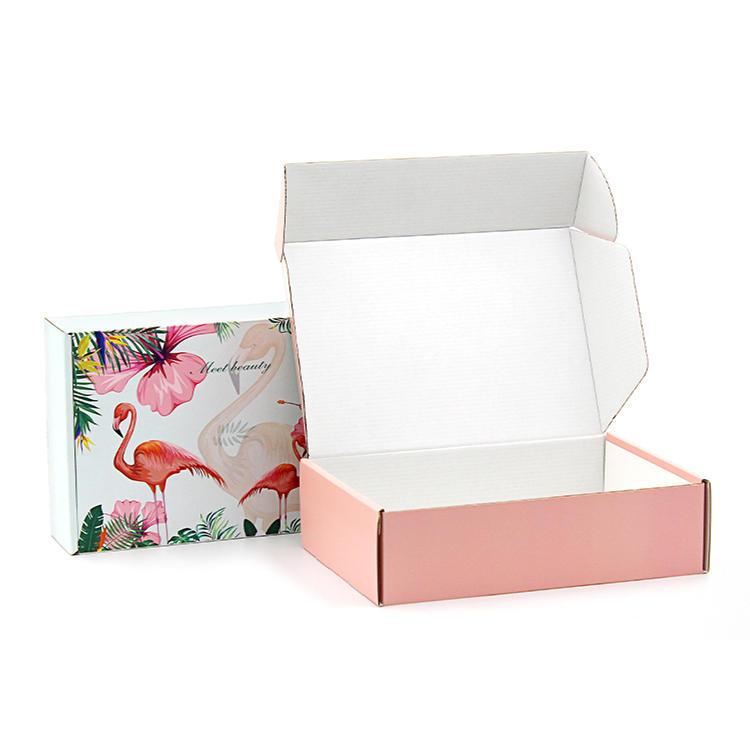 Flamingo Corrugated Custom Shipping Mailer Box with Logo