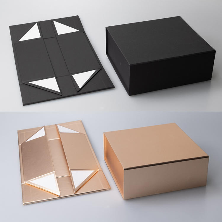 Hot Selling Wholesale Custom Folding Storage Clothing Box Packaging Foldable Cardboard Craft Gift Box with Ribbon