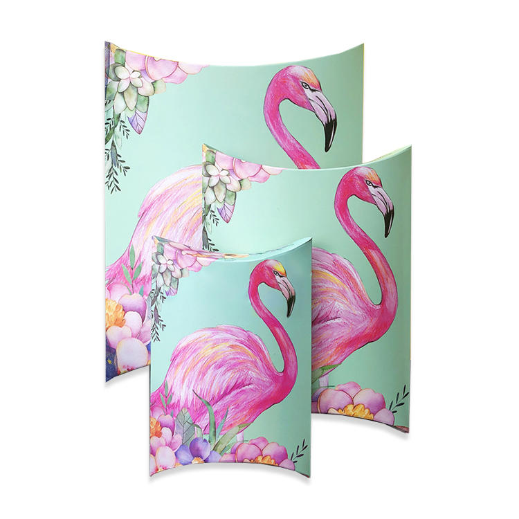 Flamingo design large custom packaging box wig pillow box for promotion