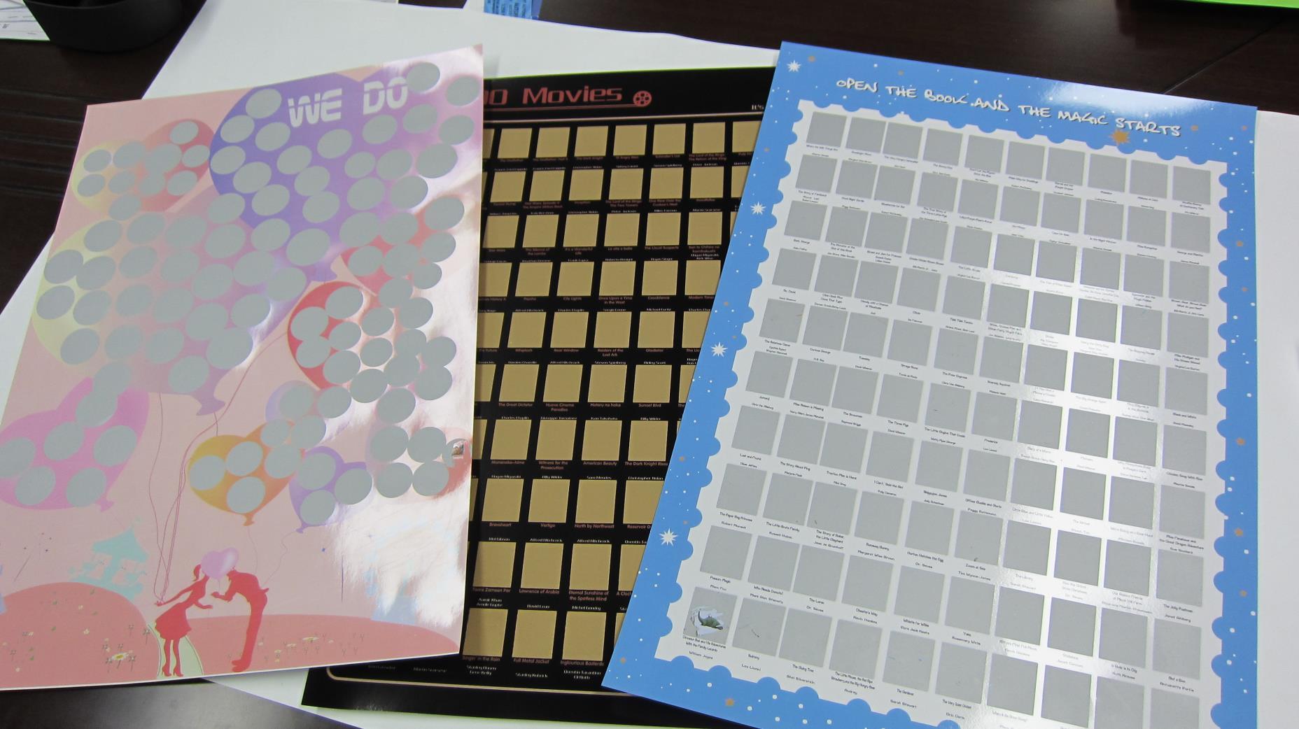 Dezheng bucket list scratch poster Supply-2