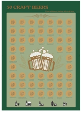 product-Dezheng-Motivational Poster Top 50 Craft Beer Bucket List Scratch Off Poster For Amazon-img