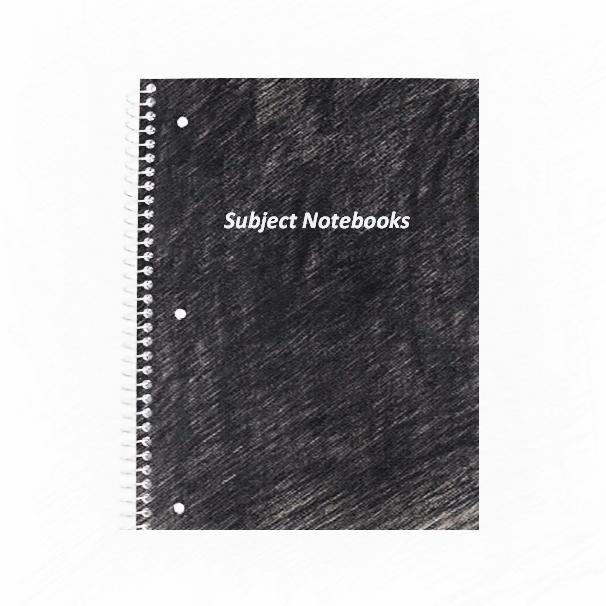 Black university school notebooks wholesale 5 subject notebooks for students