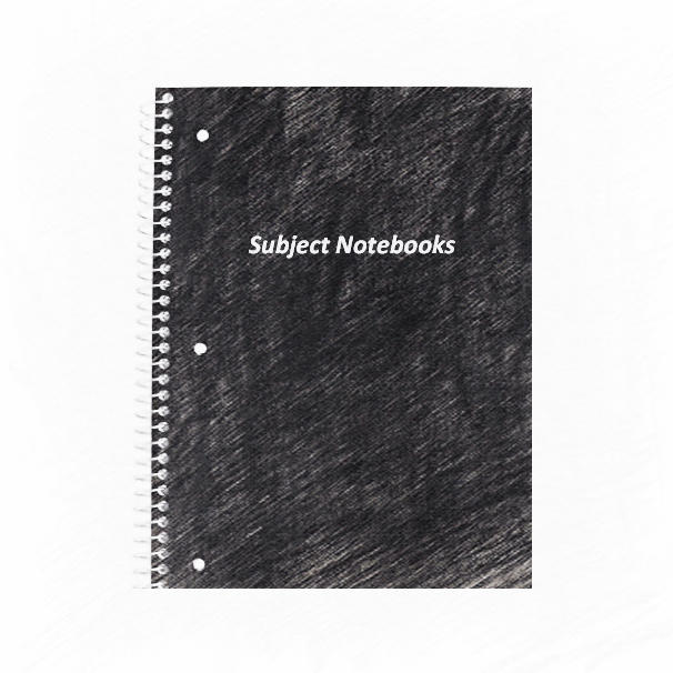 Black university school notebooks wholesale 5 subject notebooks for students
