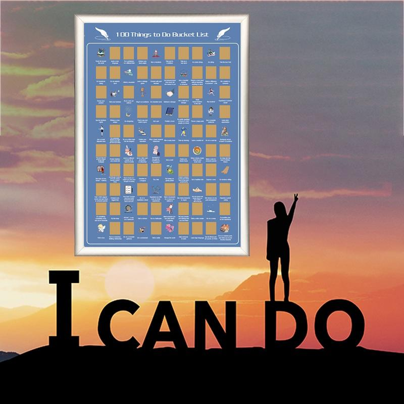 Inspirational poste scratch off bucket list 100 meaningful things for yourself