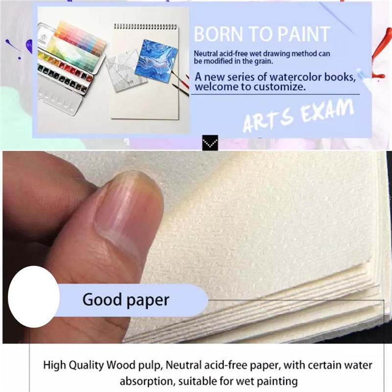 4 Inch Small Watercolor Book Watercolor Textured Drawing Paper Pad