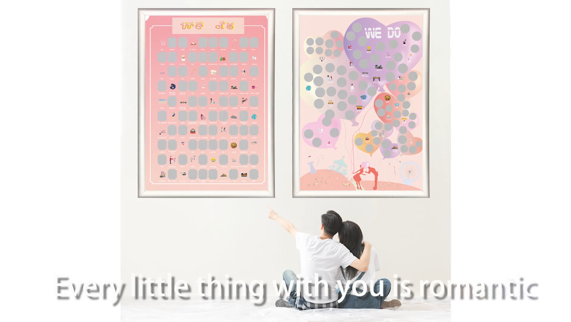 news-100 sweet things to do with your lover, scratch off poster for couple-Dezheng-img