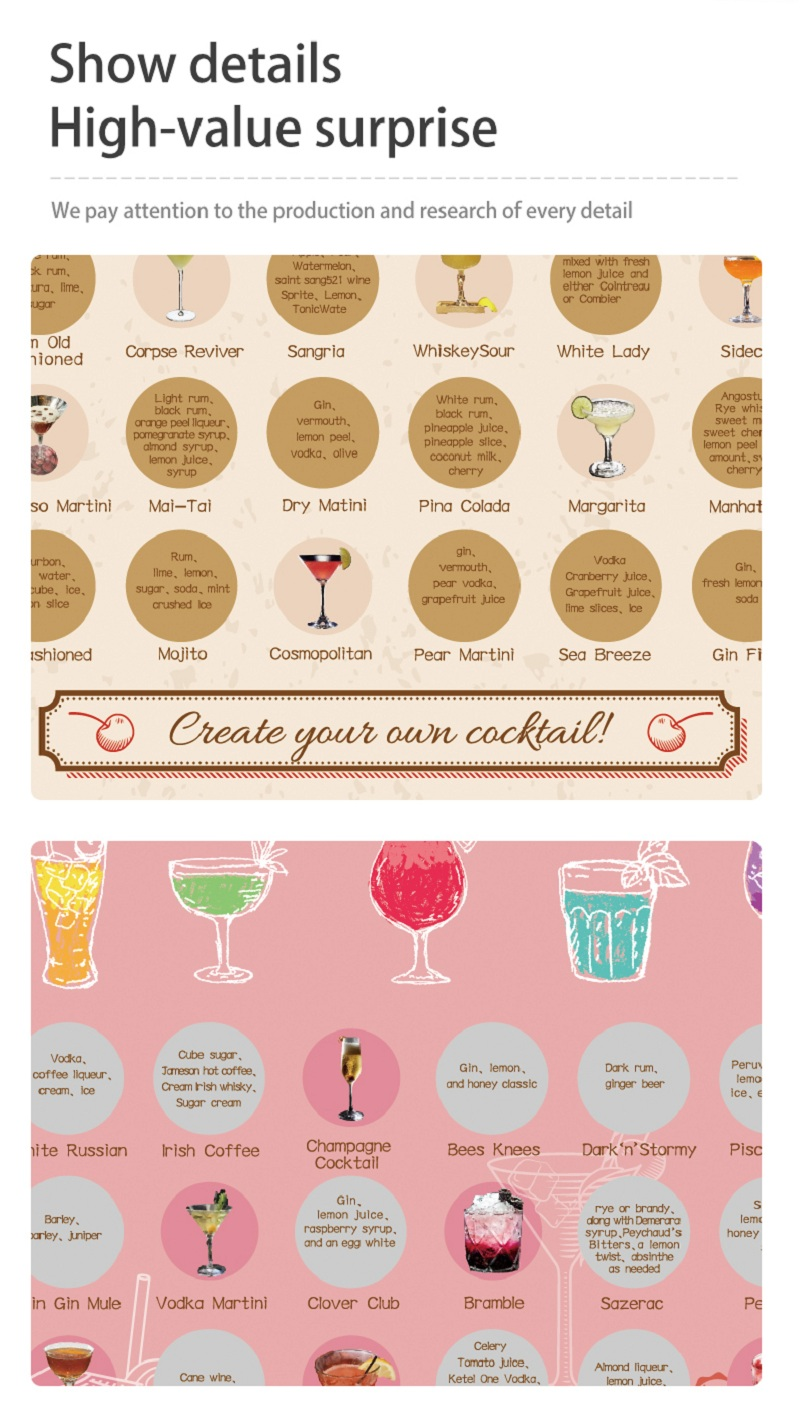 news-Custom Cocktail Poster 50 Style Party Drink Bucket List-Dezheng-img-2