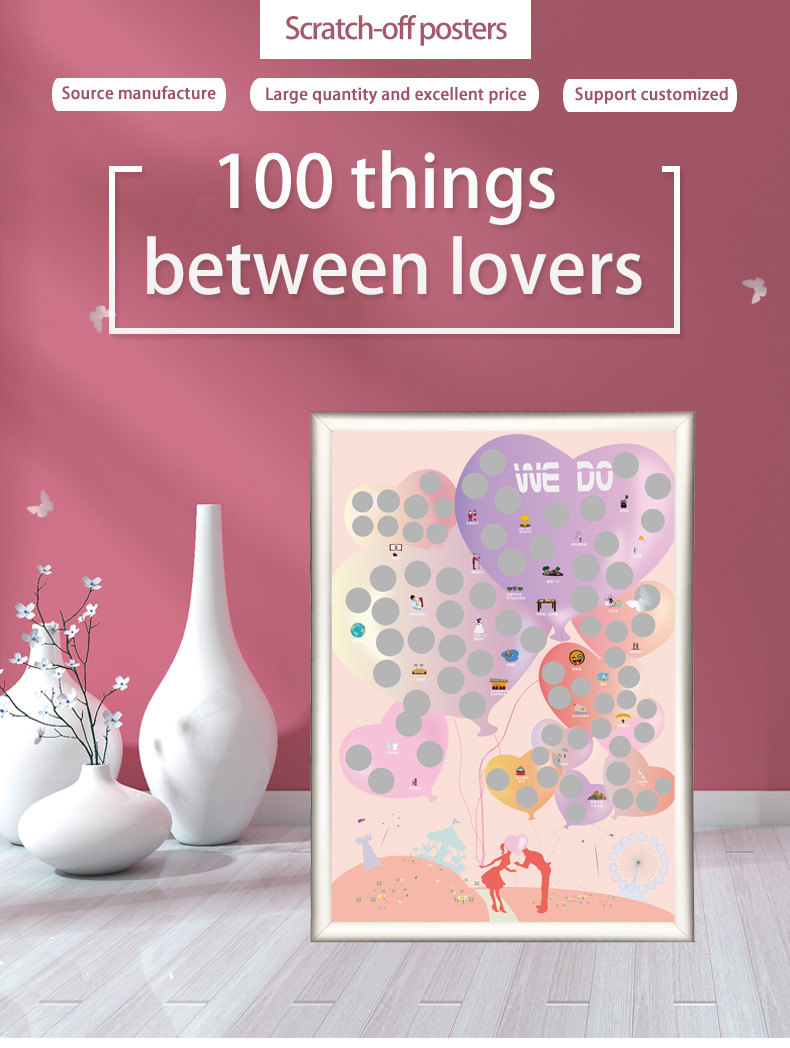 video-100 sweet things to do for couple custom scratch off poster bucket list-Dezheng-img
