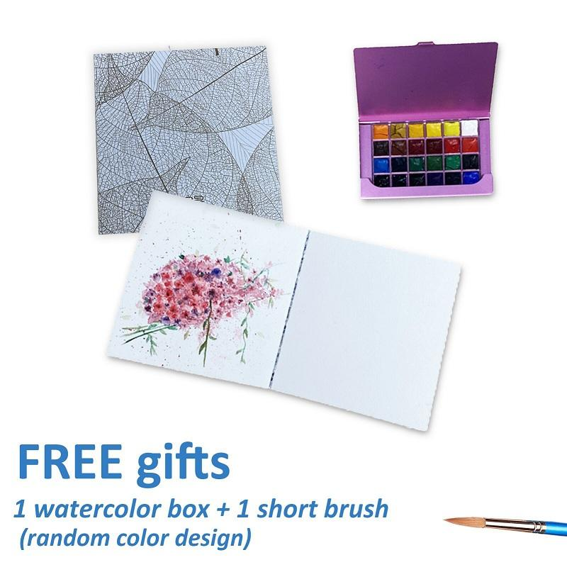 Mini Size Acid-Free Paper Watercolor Notebook Set