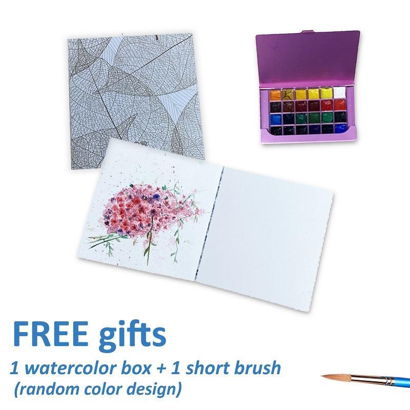 Mini Size Acid-Free Paper Watercolor Notebook Set