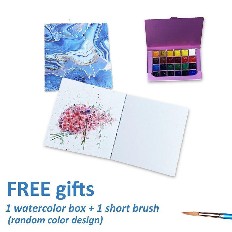 product-Mini Size Acid-Free Paper Watercolor Notebook Set-Dezheng-img-2