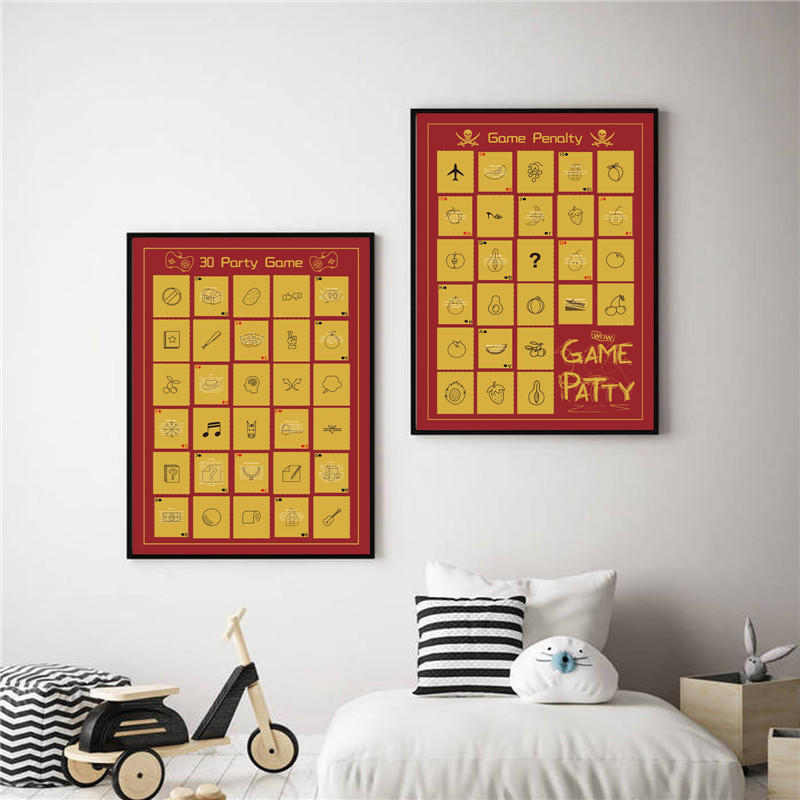 Party Game Scratch off Poster, Bachelor Party Ideas, Game and Penalty