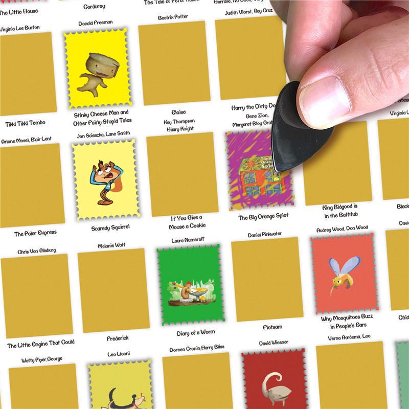 100 Must Red Kids Book Scratch off Poster 100 Books Bucket List for Children