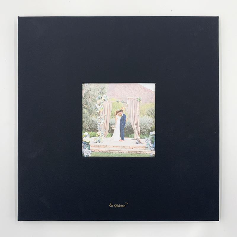 Hardcover PU Leather Photo Album With Window