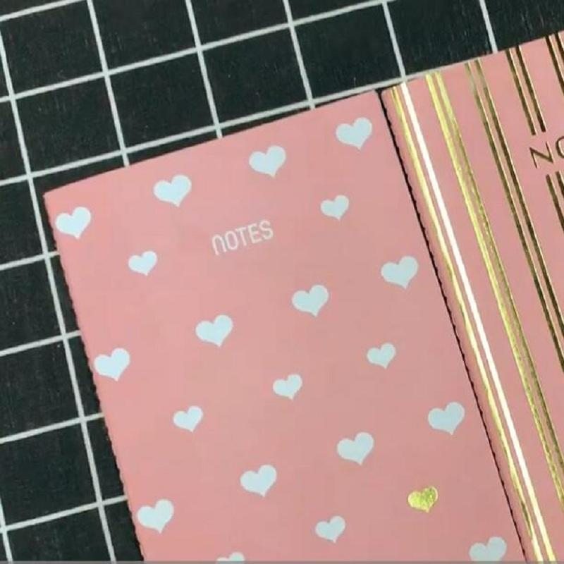 Pink Notebook Gold Foil A5 Blank Journal 60 Pages