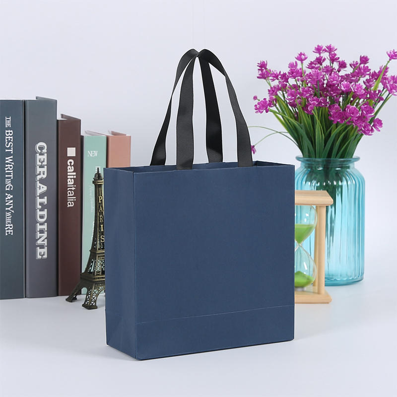 product-Dezheng-Blue paper gift bags clothing bags with handle | shopping bags with your logo printe-1