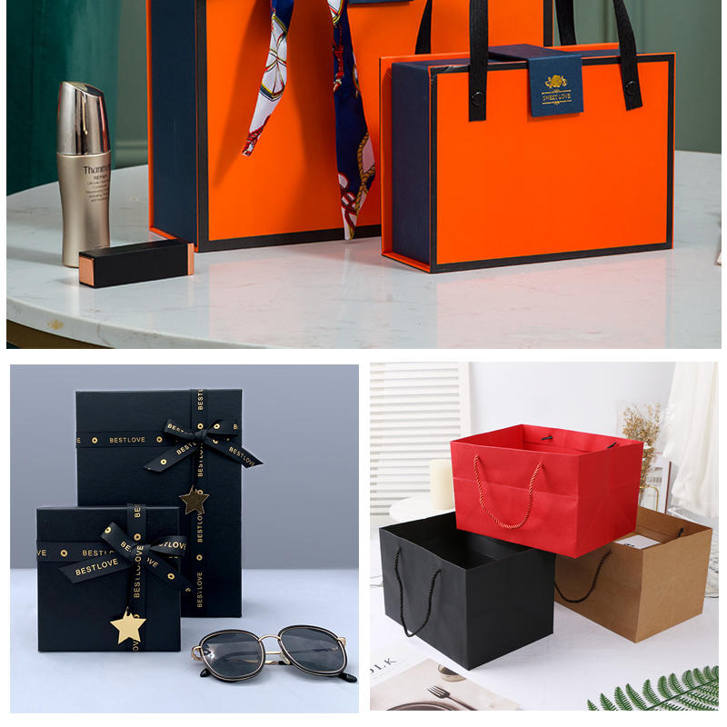 product-wholesale custom black packaging paper jewellery box with magnet clouser-Dezheng-img-3