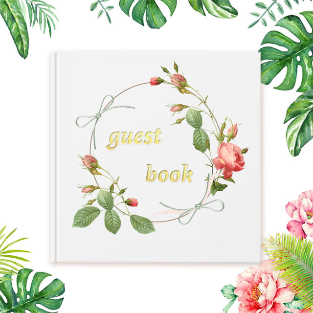 Folar rustic wedding guest book personalized guest book with pen