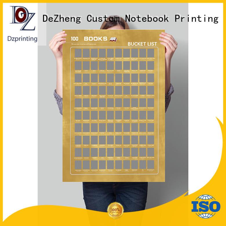 Dezheng Wholesale bucket list poster factory For