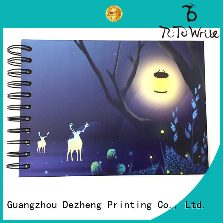 Dezheng 12x12 photo album self adhesive pages for friendship