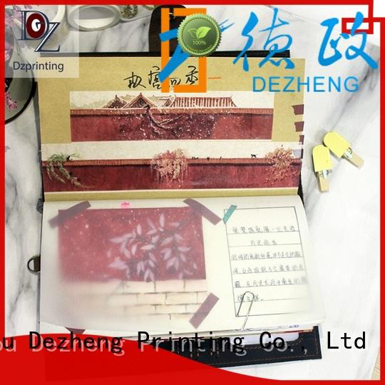 Dezheng custom leather notebooks manufacturers For student