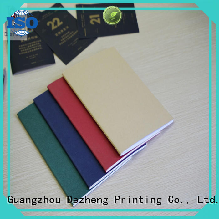 Dezheng binding blank notebook paper factory For meeting