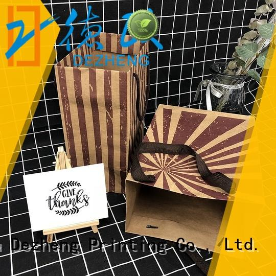 Dezheng bag custom printed kraft paper bags company for friendship