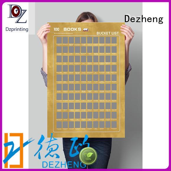 Dezheng off bucket list poster For