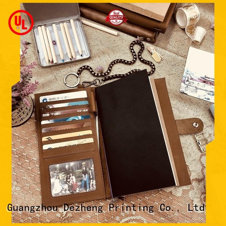 Dezheng portable custom notebooks and planners friendly for journal