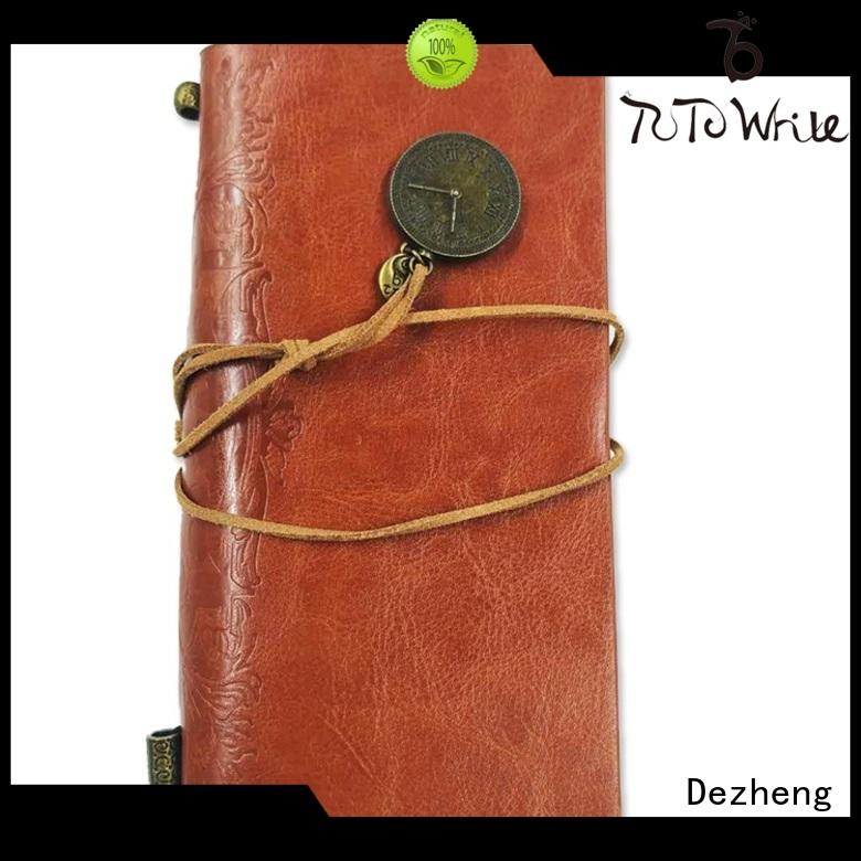 Dezheng leather personalized journal notebook get quote For DIY