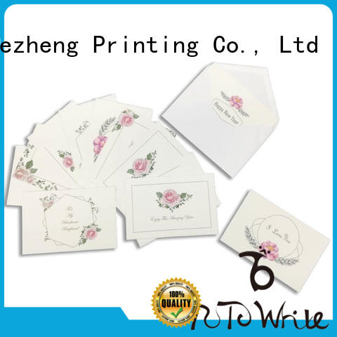 Dezheng blank personalized congratulations cards factory for events