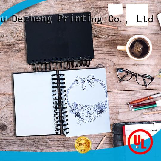 Dezheng Customized sketchbook sizes OEM For notebook printing