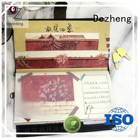 Dezheng leather journals for sale customization For meeting