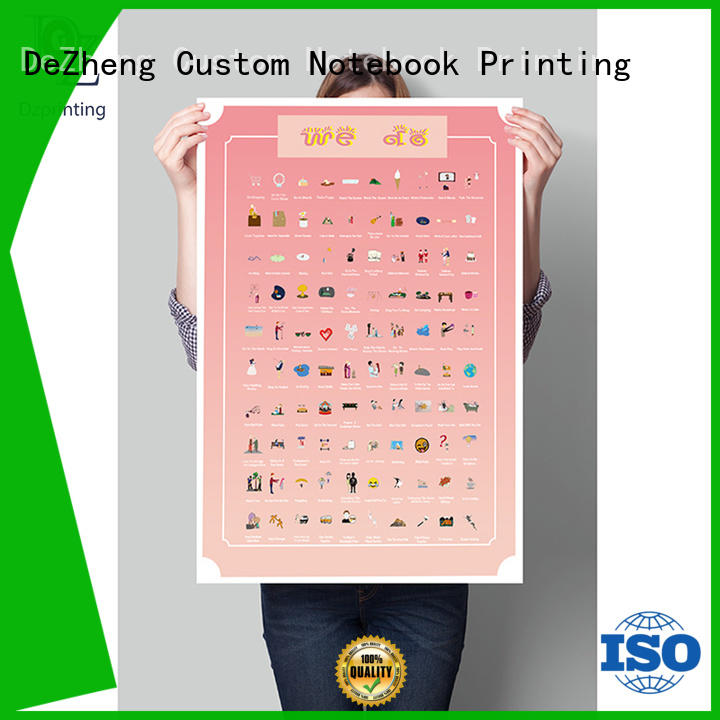 Dezheng durable 100 things to do scratch off poster list For meeting